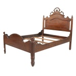 Victorian Walnut Full Size Bed, Early 20th Century