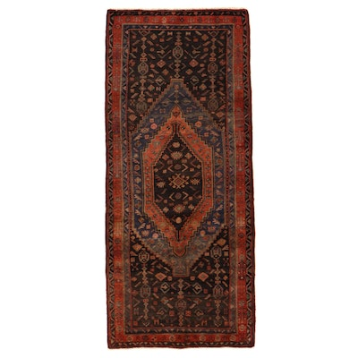 4'6 x 10'6 Hand-Knotted Persian Kurdish Long Rug