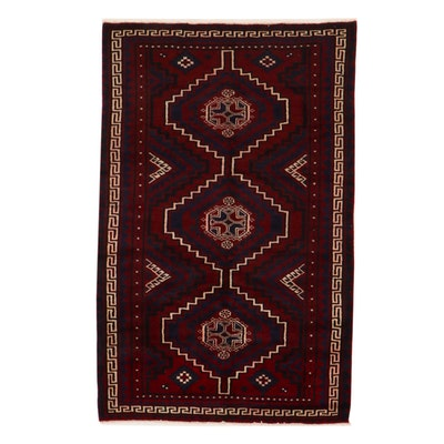 5'5 x 8'7 Hand-Knotted Afghan Baluch Area Rug