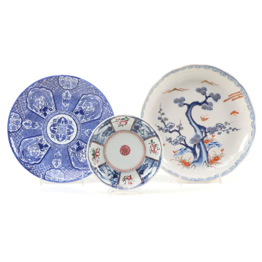 Japanese Aoki and Other Arita Plates and Chargers