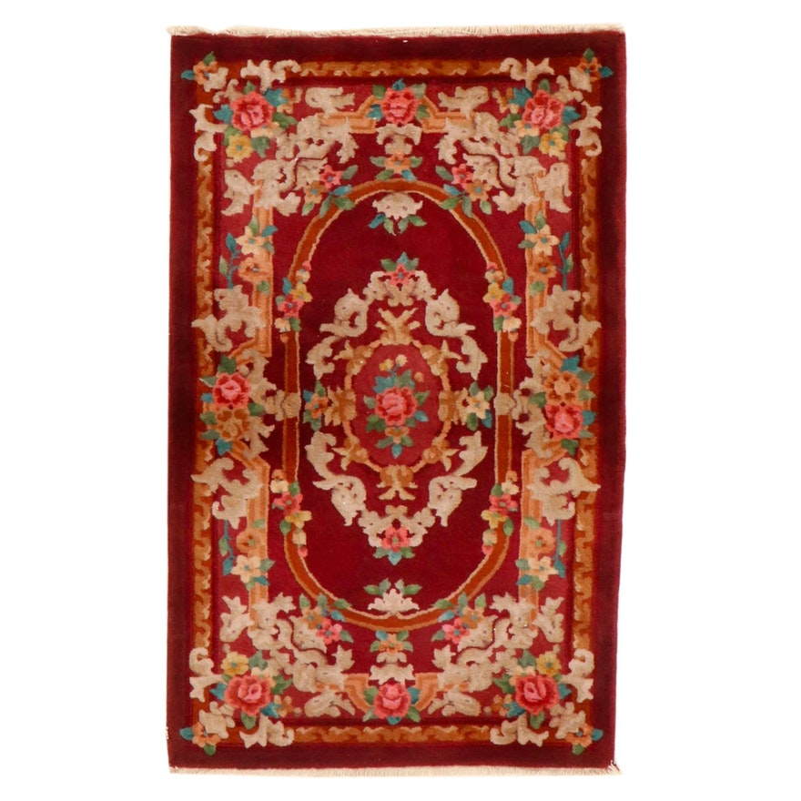 3'1 x 5'1 Hand-Knotted Chinese French Style Area Rug