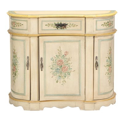 Paint-Decorated Console Cabinet, Late 20th Century