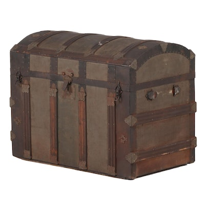 Victorian Dome Top Steamer Trunk, Late 19th/Early 20th Century