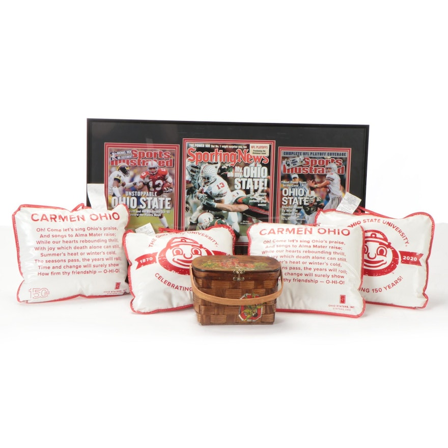 """Ohio State """"2002 National Champs"""" Football Photo Print and """"Brutus"""" Pillows"""