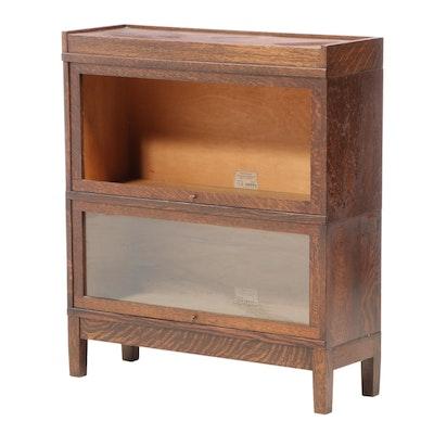 Globe-Wernicke Quartersawn Oak Two-Stack Barrister's Bookcase, Early 20th C.