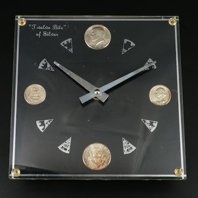 "Marion Kay ""Twelve Bits of Silver"" Silver Coin Clock"
