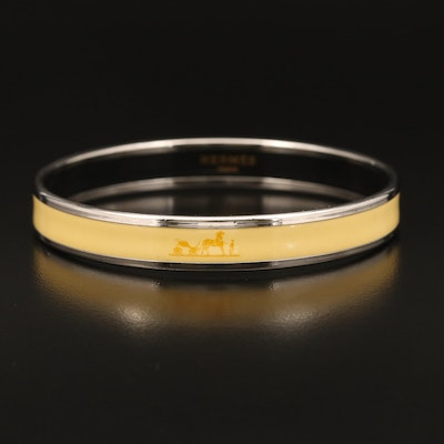 Hermès Enamel Bangle with Horse and Carriage
