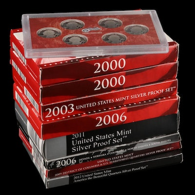 Silver Proof Coin and Commemorative Quarter Sets Including Key Date 2012 Set