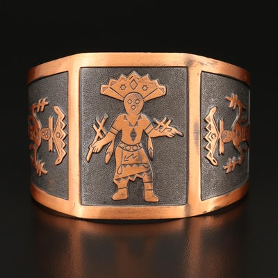 Bell Trading Post Copper Kachina Cuff