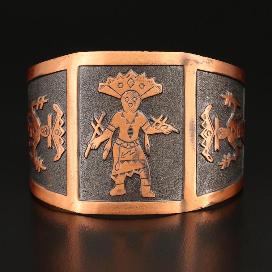 Bell Trading Post Copper Kachina Cuff
