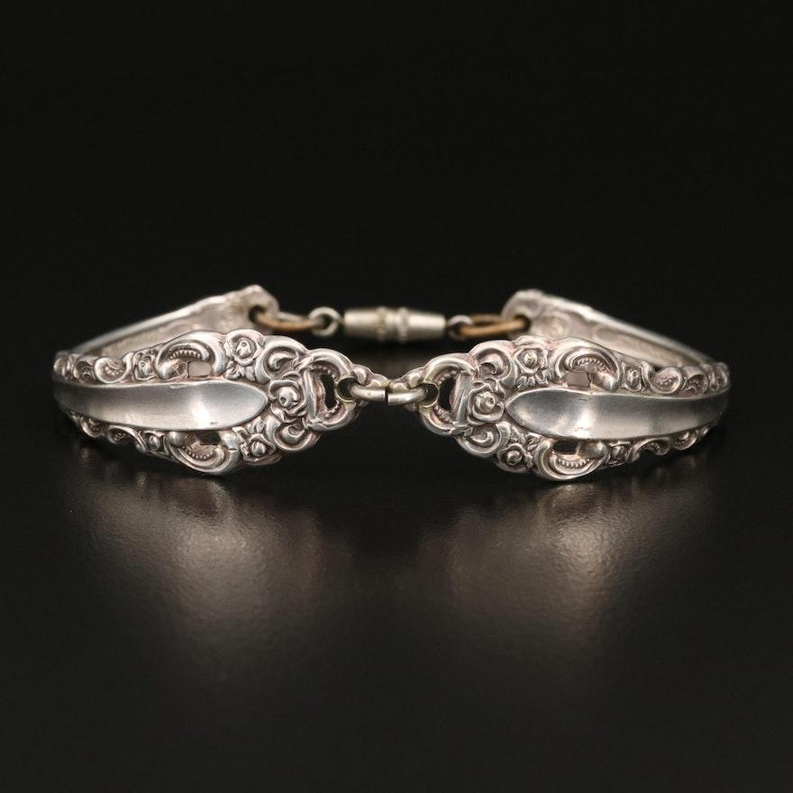 Vintage Bracelet Fashioned from Flatware