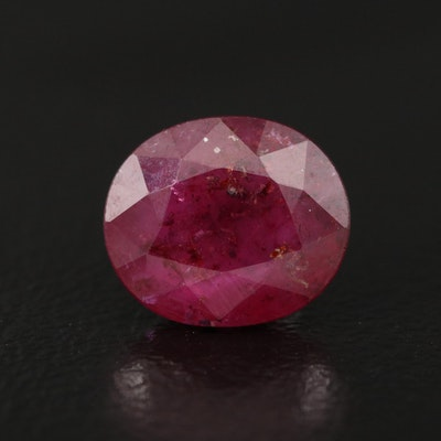Loose 2.53 CT Oval Faceted Ruby