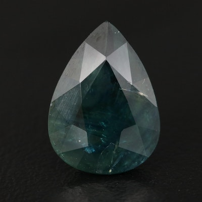 Loose 6.36 CT Pear Faceted Sapphire