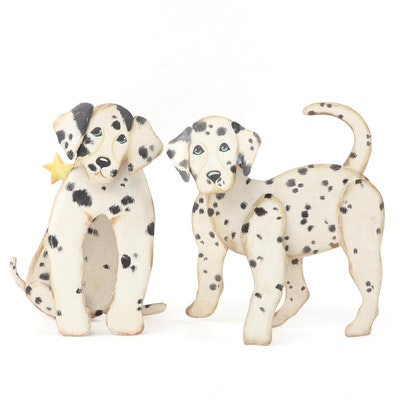 The Round Top Collection of Painted Metal Dog Décor