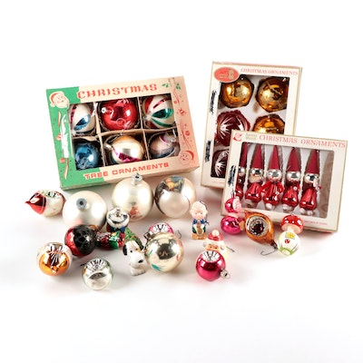 Santa's World, Peanuts Gang and Other Glass and Ceramic Christmas Ornaments