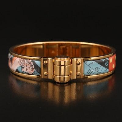 Hermès Enamel Hinged Bracelet