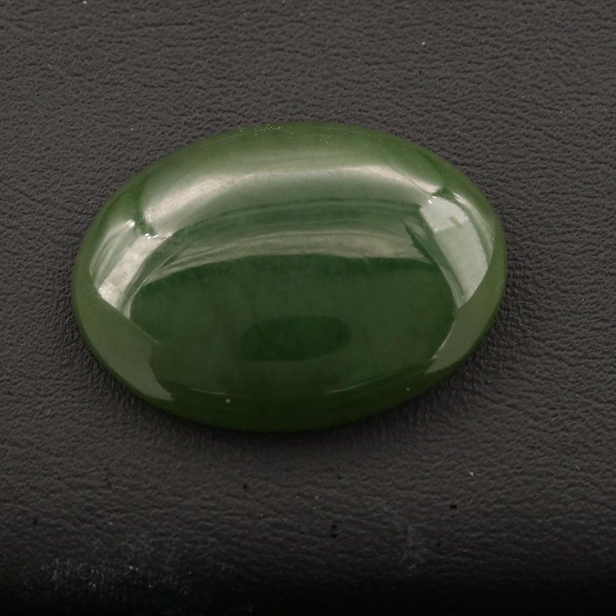 Loose Oval Nephrite Cabochon