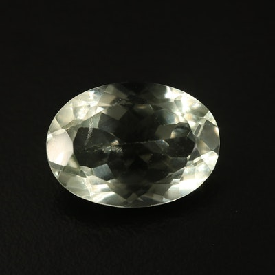 Loose 11.18 CT Oval Faceted Prasiolite
