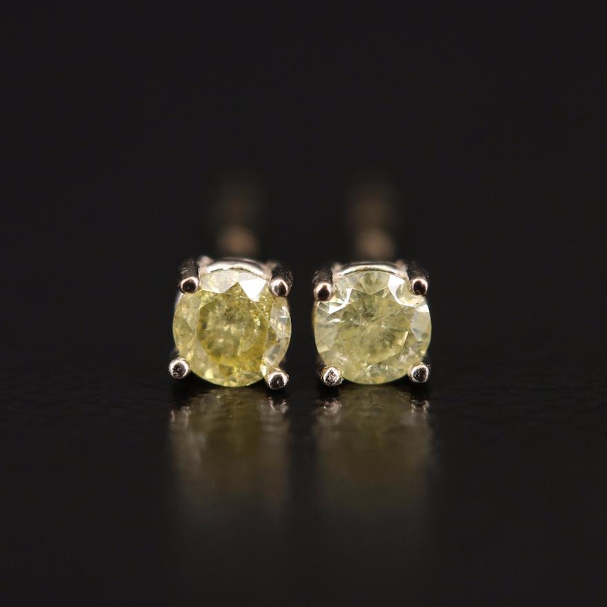 14K 0.14 CTW Diamond Stud Earrings