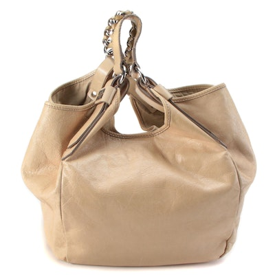 Givenchy Beige Leather Hobo Bag