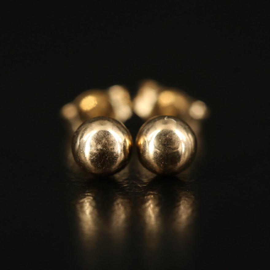 14K Ball Stud Earrings