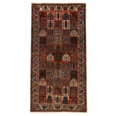 5'2 x 10' Hand-Knotted Persian Bakhtiari Garden Panel Area Rug