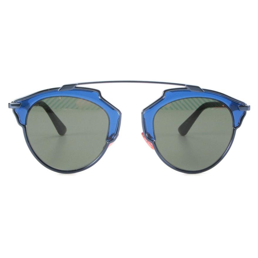 Christian Dior SoReal Blue Sunglasses with Case
