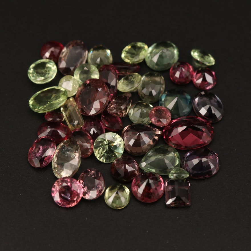 Loose 10.25 CTW Mixed Faceted Sapphire