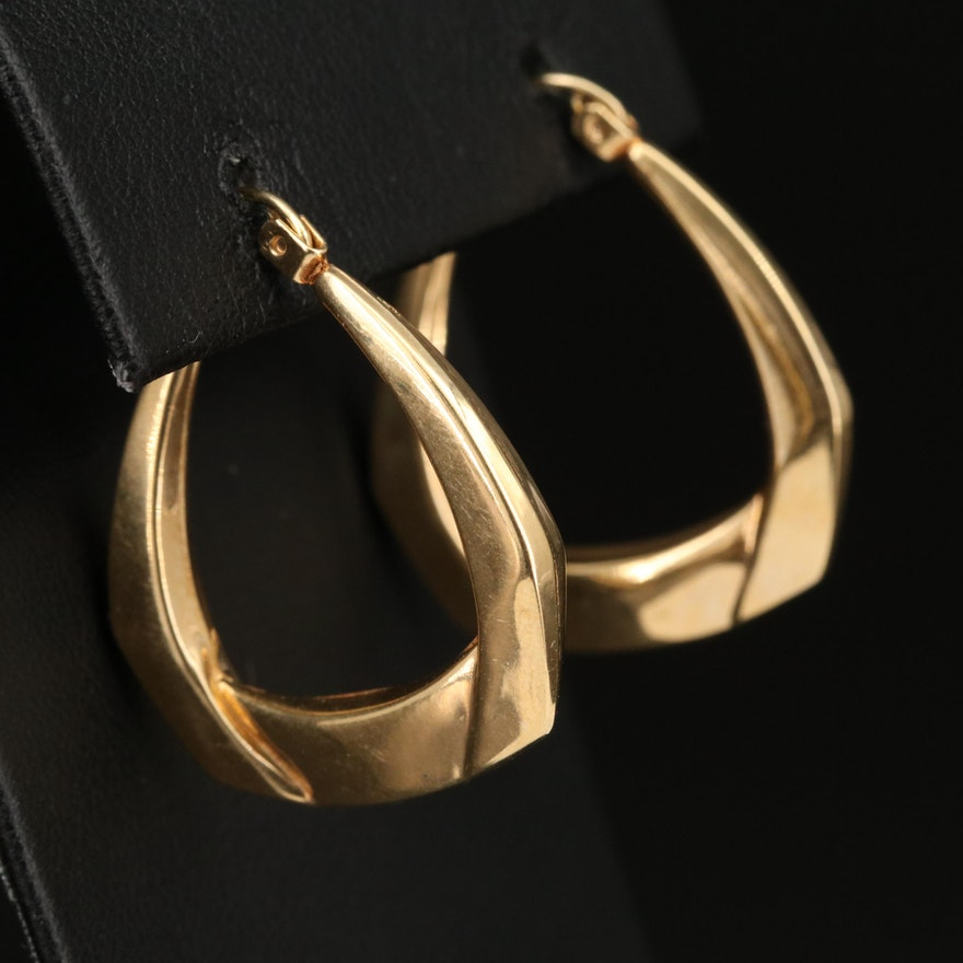 14K Hoop Earrings