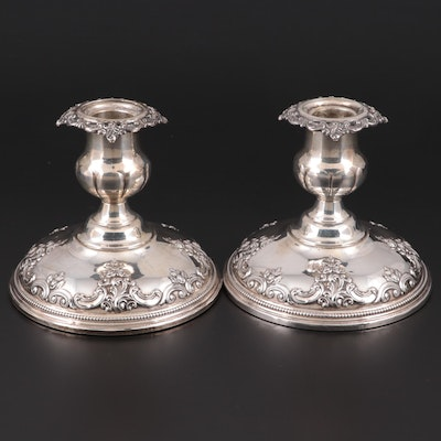 "Wallace ""Grand Baroque"" Weighted Sterling Silver Candlesticks"