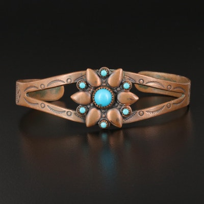 Bell Trading Post Copper Faux Turquoise Cuff