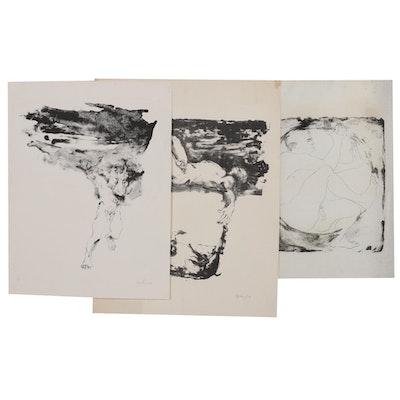 John Tuska Stone Lithographs on Paper