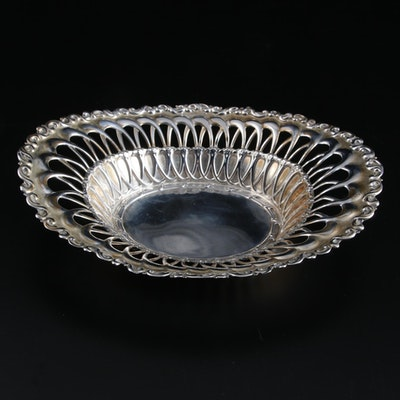 "Whiting Mfg. Co. ""Louis XV"" Pierced Sterling Silver Bonbon Bowl"