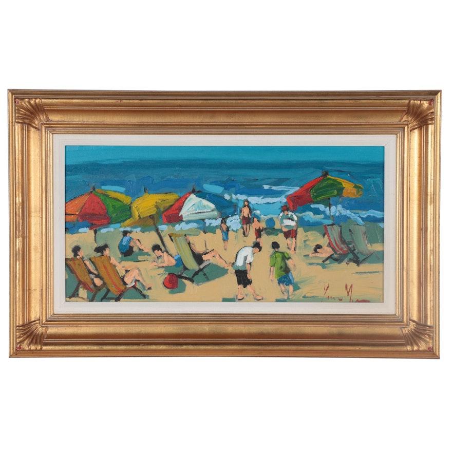 """Acrylic Painting """"On the Beach"""""""