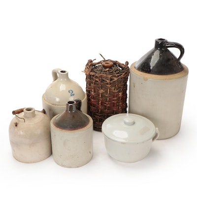 Robinson Ransbottom with Other Stoneware Jugs and Crocks