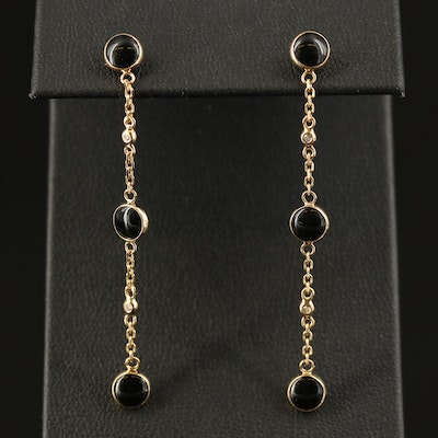 EFFY 18K Black Onyx and Diamond Drop Earrings