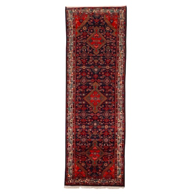3'7 x 10'9 Hand-Knotted Persian Zagheh Long Rug