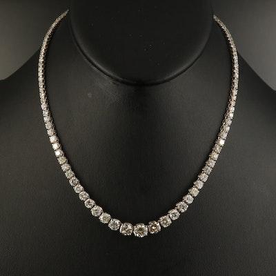 14K 11.25 CTW Diamond Graduated Riviera Necklace