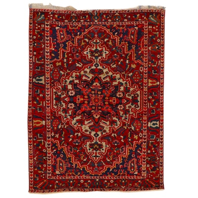 5'1 x 7' Hand-Knotted Persian Bakhtiari Area Rug