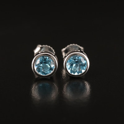 EFFY 14K Bezel Set Topaz Stud Earrings