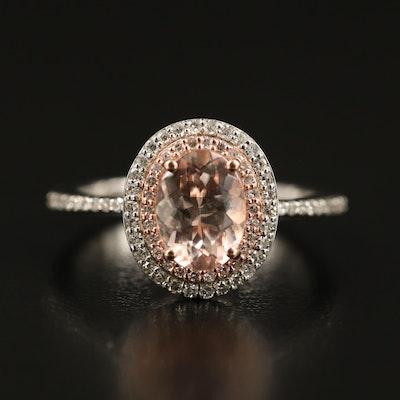 EFFY 14K Morganite and Diamond Ring