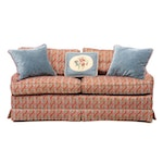 Henredon Upholstered Loveseat with Accent Pillows, Late 20th Century