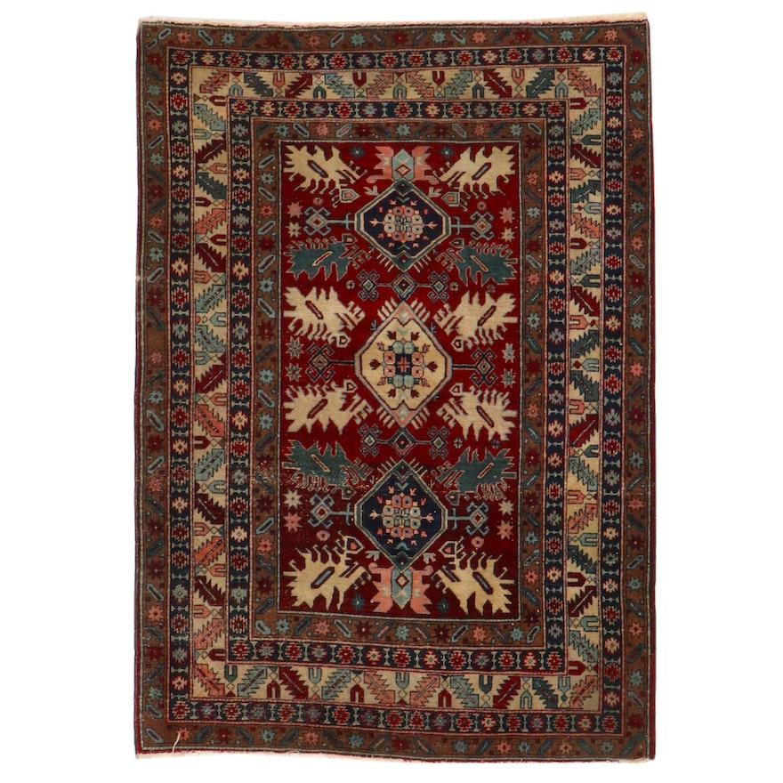 5' x 7'1 Hand-Knotted South Caucasian Area Rug