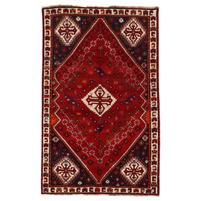 5'2 x 8'5 Hand-Knotted Persian Qashqai Area Rug