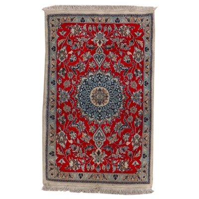 2'8 x 4'6 Hand-Knotted Persian Nain Accent Rug
