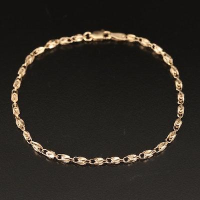 10K Fancy Link Bracelet