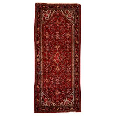 2'8 x 6'3 Hand-Knotted Persian Hamadan Herati Area Rug