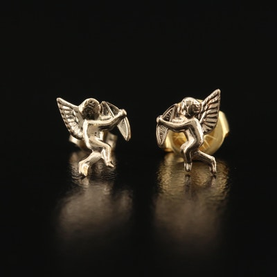 14K Cupid Stud Earrings