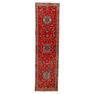 3'6 x 12'8 Hand-Knotted Persian Heriz Ahar Long Rug