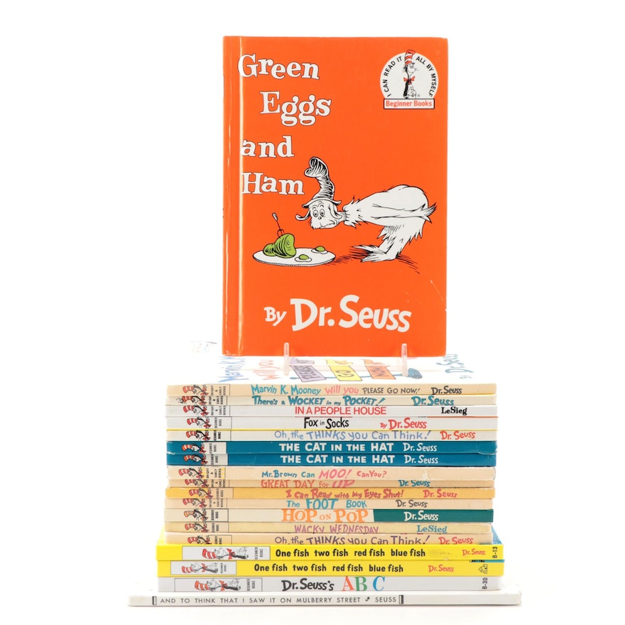 Collection of Dr. Seuss Books, Including Book Club Editions